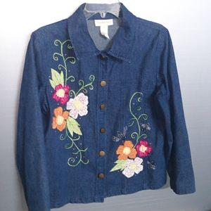Tapestry Patch Size M denim jacket (SKU OB 194)